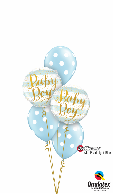 Baby Boy Blue Stripes Classic Bouquet